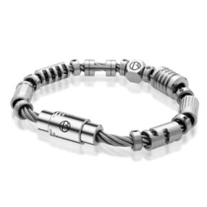 Bailey fully loaded stainless steel bracelet