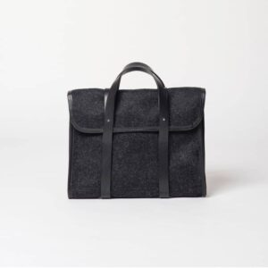 cherchbi barrett flap wool briefcase made in uk
