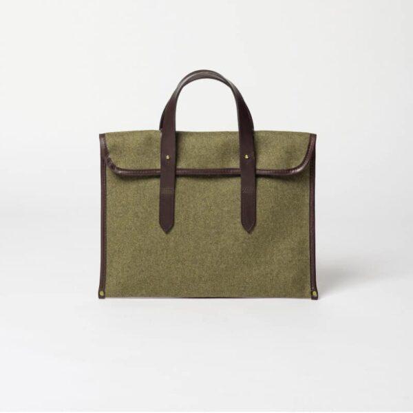 cherchbi barret sleeve handmade wool bag in khaki