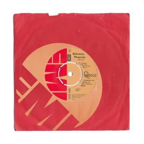 Bohemian Rhapsody 7 inch single british made music art print