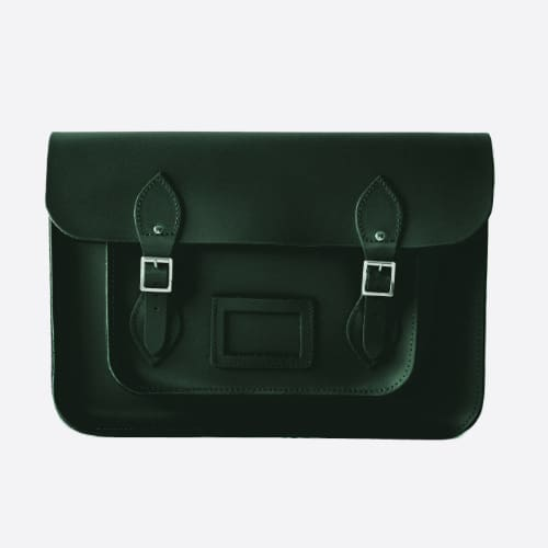 British Racing Green Leather satchel