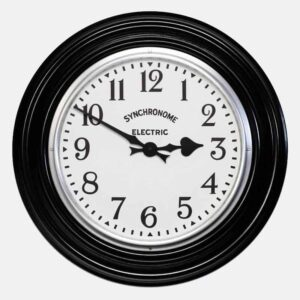 british museum black large wall clock