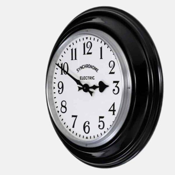 british museum wall clock in black
