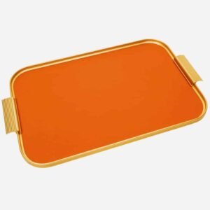 Burnt Orange And Gold Handmade Kaymet Tray