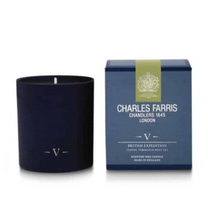 Charles Farris british expedition, luxury british scented candle, royal warrant candle