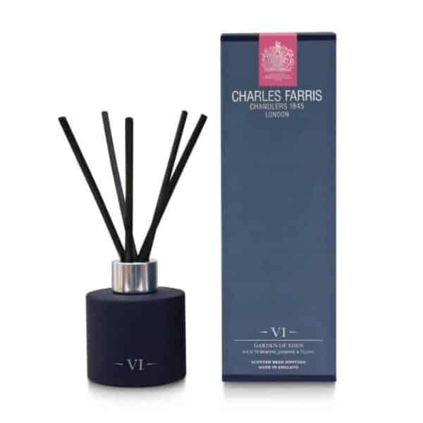 Charles Farris scented diffuser garden of eden reed diffuser, room diffuser luxury scents