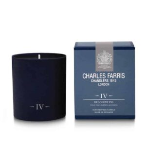 Charles Farris redolent fig luxury candle, fig scented luxury candle British made scented candle