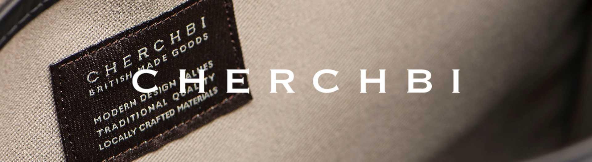 Cherchbi brand header british made bag brand