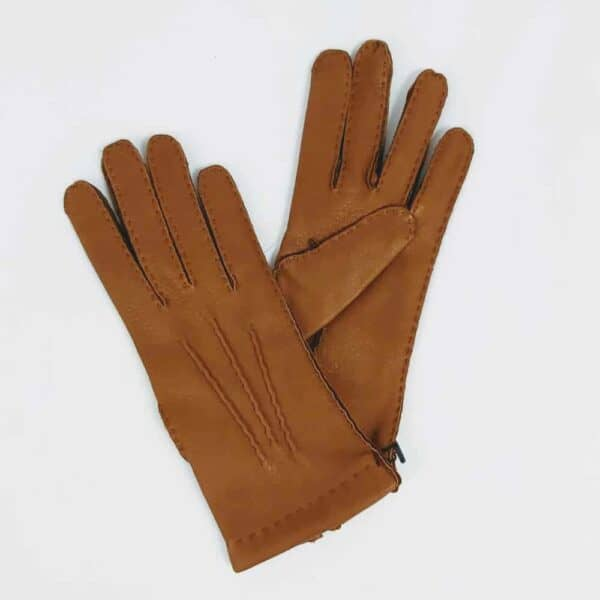 Chester Jefferies Ladies Park lane tan leather gloves for women handmade ladies gloves in Dorset