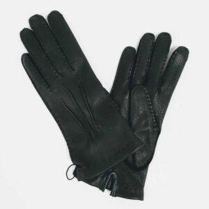 Chester jefferies park lane black leather gloves, handmade leather ladies gloves for women