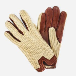 Triumph driving gloves, chester jefferies criochet back driving gloves