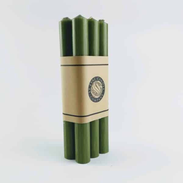 St eval candles Dinner Candles 6 Pack Olive green, long green candles
