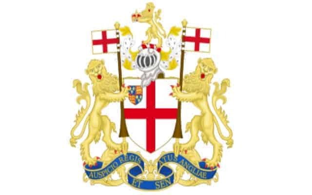 the coat of arms for the east india company