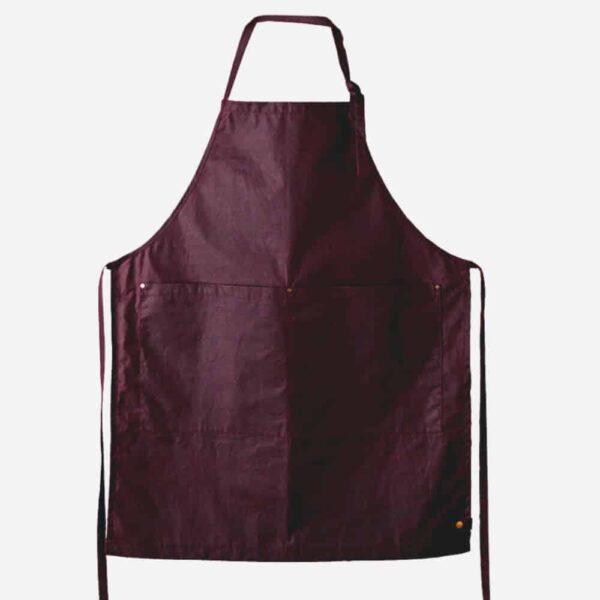 Fieldware Co apron sloe, waxed cotton hardwearing luxury craft apron. Handcrafted wax apron made in Uk apron