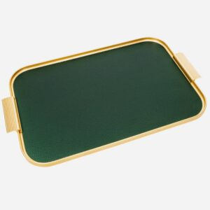 Kaymet Handmade Forest Green And Gold Tray