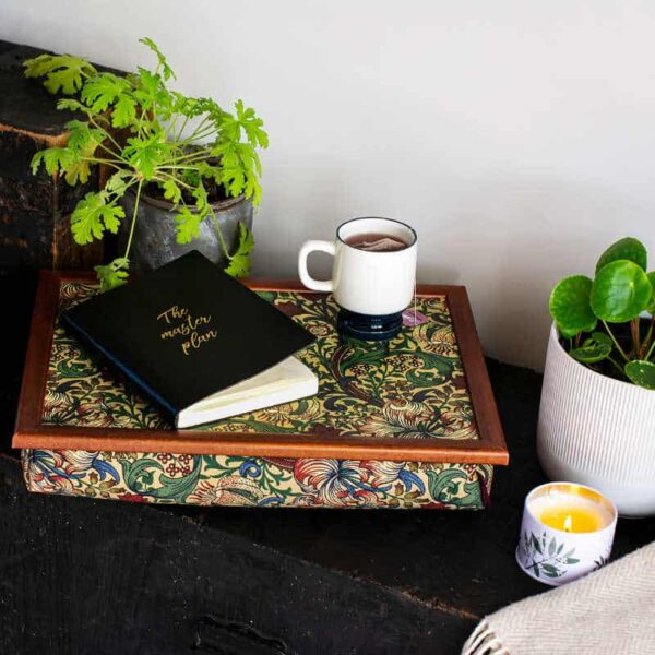 william morris golden lily lap tray with wool innners dinner tray