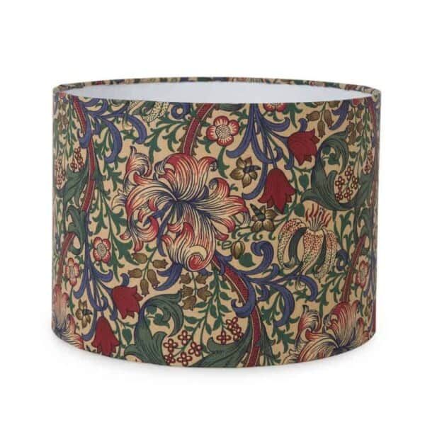 golden lily fabric william morris lampshade medium lampshade green and heath arts and crafts