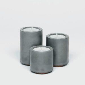 Grey Tea Light Trio