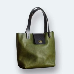 heather borg olive green tote