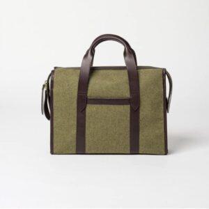 cherchbi isabard briefcase hand made in uk woollen briefcase