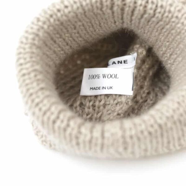 made in england wool beanie