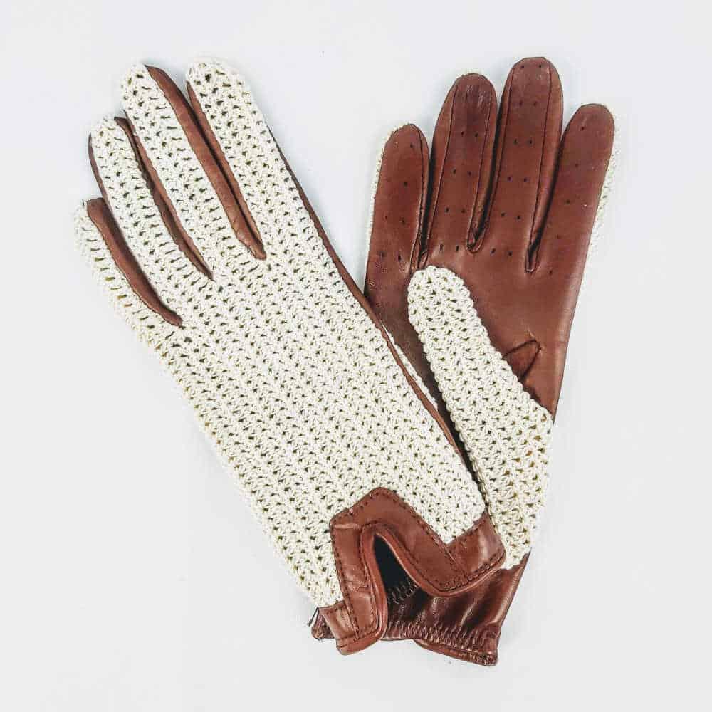 Ladies Crochet driving gloves main shot