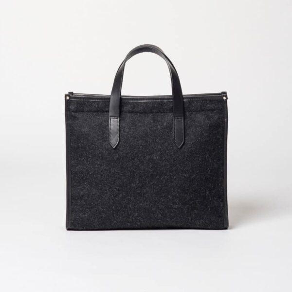 cherchbi library black tote bag handmade british woollen bag