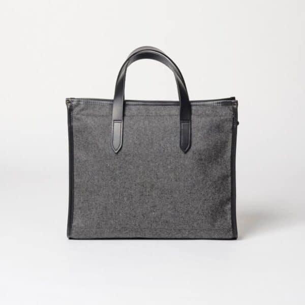 cherchbi wool tote bag in grey made in Uk shoulder bag hand made