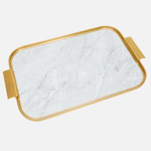 Marble And Gold Handmade Kaymet Tray