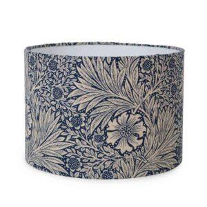 william morris marigold indigo medium lampshade arts and crafts green and heath