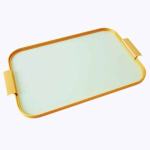 Mellow Green And Gold Handmade Kaymet Tray