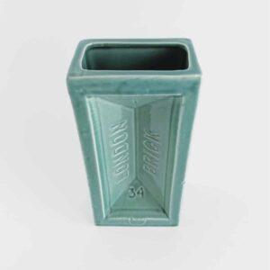 Turquoise London Brick Vase