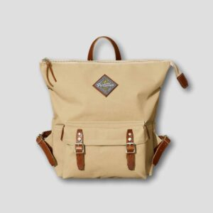 Portamus scout taupe zip backpack front