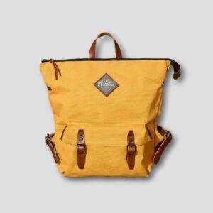Portamus colemans yellow zip backpack front