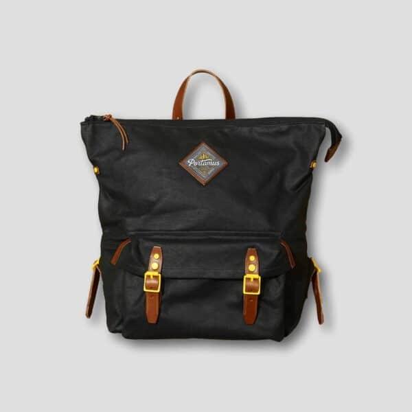 Portamus black marten zip backpack front