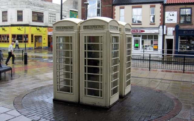 Red telephone Blog page hull white 640x400 - Britain Calling - History of design icon.