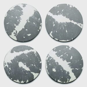 Grey & White Splatter Concrete Coasters