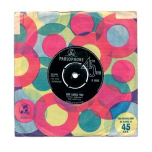 She Loves You 7 inch single british made music art print