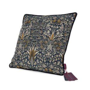 william morris green and heath snakehead cushio