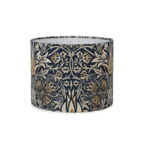snakehead lampshade in william morris fabric small lampshade arts and crafts green and heath