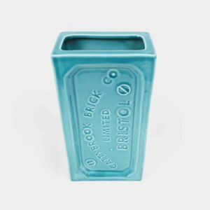 Turquoise Blue Bristol Brick Vase