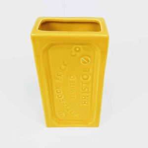 Yellow Bristol Brick Vase