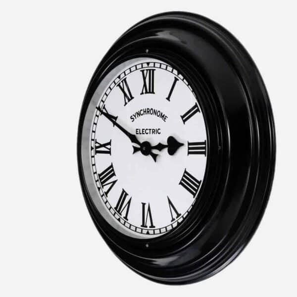 Synchonome Black Museum clock roman numerals side 1