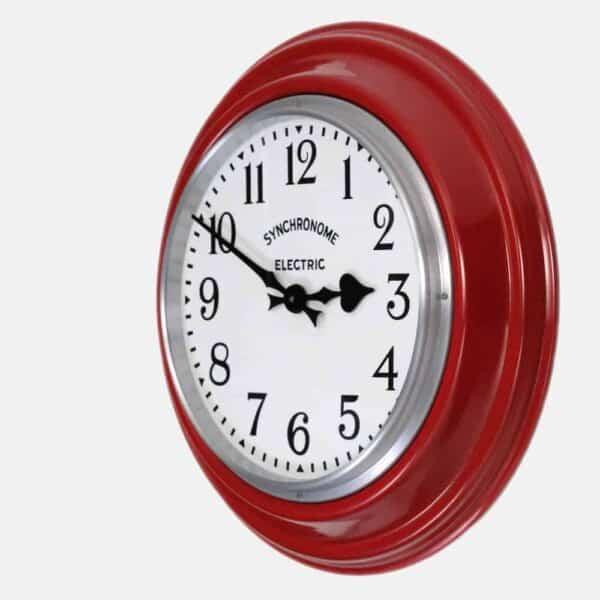 Synchonome GPO RED clock arabic numerals side