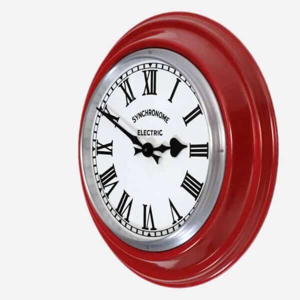 Synchonome GPO RED clock roman numerals side