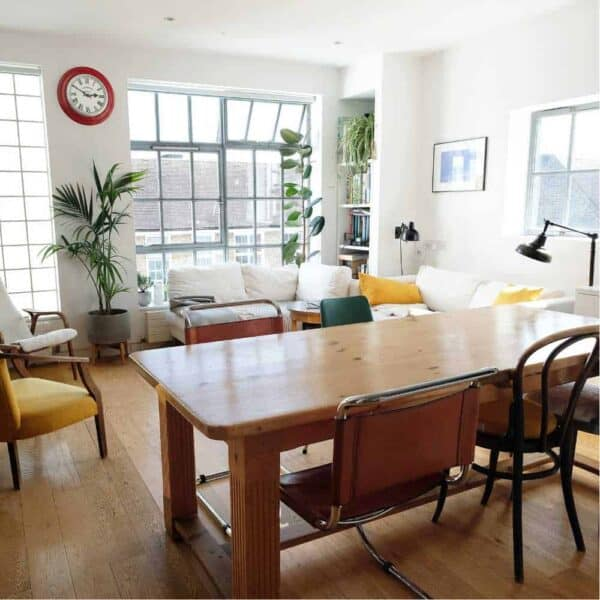 Synchonome clocks lifestyle front room