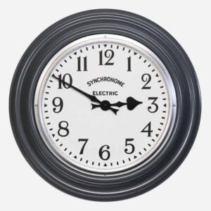 Synchonome hooton grey clock arabic numerals front