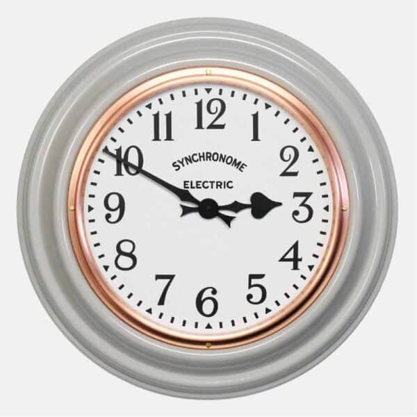 Synchonome clocks underground grey clock arabic numerals kitchen clcok, traditional wall clock, classic wall clcok, grey factory clock