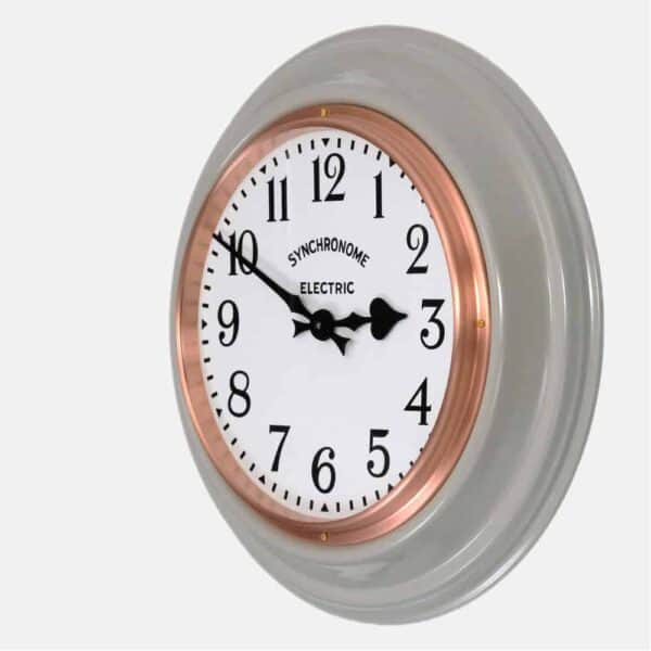 Synchonome underground grey clock arabic numerals side