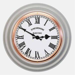 Synchonome clocks underground grey clock roman numerals , traditional wall clock, handmade grey kitchen clock, classic kitchen clcok